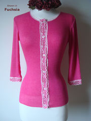 Now 62% Off!! Our Gypsy Lace Trim 3/4 Sleeve Cardigan - product images 1 of 5