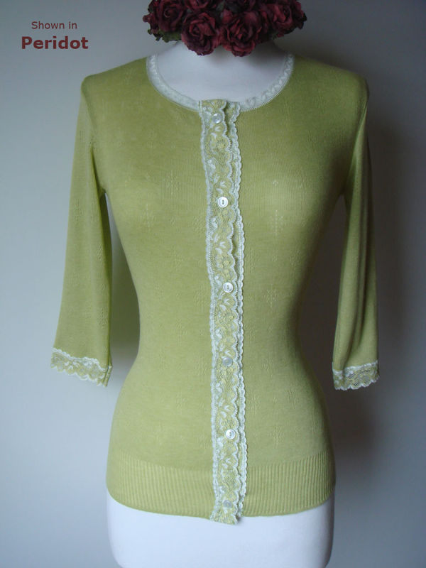 Now 62% Off!! Our Gypsy Lace Trim 3/4 Sleeve Cardigan - product image