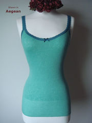 Now 50% Off!! Our Jade Lace Trim Camisole & Cardigan - product images 2 of 2