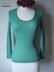 Now 70% Off & New Colours!! Our Contrast Stitch Petite Style Scoop Neck Top - product images 3 of 4