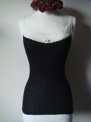 Now 75% Off!! Our Cream Velvet & Lace Camisole - product images 4 of 4