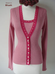 WOW 60% Off!! Our Fuchsia Heart Lace Twinset - product images 7 of 8