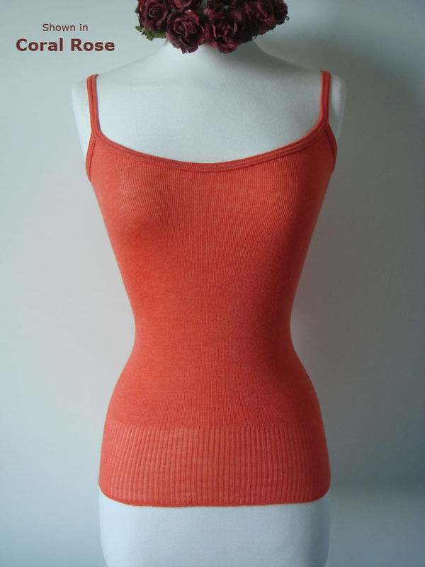 Now 60% Off!! Our Plain Knit Bound Edge Camisole - product image