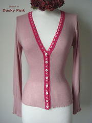 More than 60% Off!! Our Fuchsia Heart Lace Short Style Cardigan - product images  of