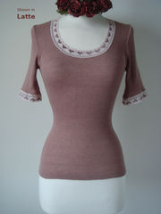 Now 70% Off!..Our Heart Lace Short Sleeve Top - product images 4 of 4