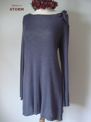 Wow 70% off Crochet Knit Tie Neck Swing Tunic - product images 2 of 2