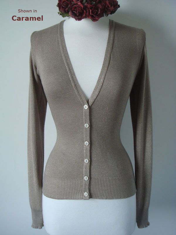 More than 50% Off!! ...Our Gold Sparkle Knit Cardigan - product image