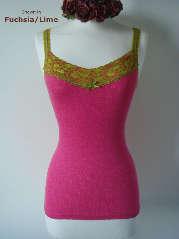 WOW 50% Off!! Our Lime Wide Lace Camisole - product image