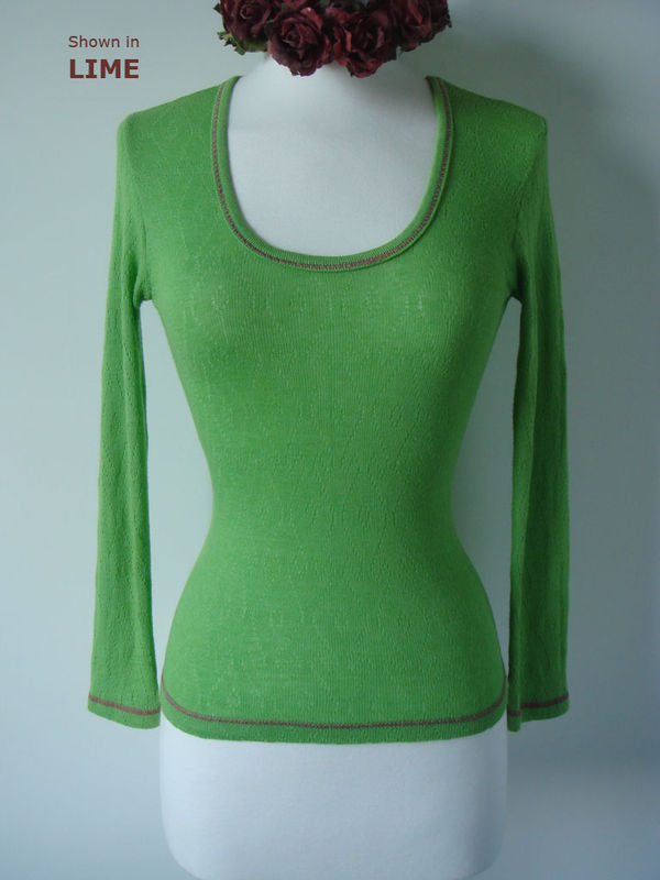 Now 70% Off & New Colours!! Our Contrast Stitch Petite Style Scoop Neck Top - product image