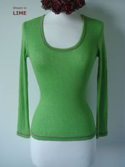 Now 70% Off & New Colours!! Our Contrast Stitch Petite Style Scoop Neck Top - product images 4 of 4