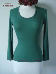 Now 65% Off !! Our Contrast Stitch Petite Style Scoop Neck Top - product images 1 of 1