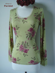 Now 70% Off !!...Our Vintage Rose Print Long Sleeve Top - product images 2 of 3