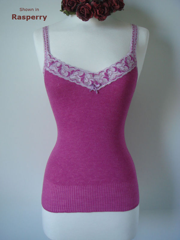 Now 70% Off!! ..Our Camelia Lace Pointelle Camisole - product image