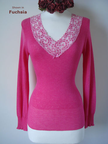 Our,Wide,Lace,Long,Sleeve,Top,Palace Lace Top, Lace Top, Pointelle Knit Top, Lace Trim Top, Thermal Top, Thermal Knitwear, Pointelle Knitwear
