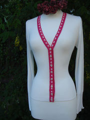 Now 30% Off!! Our Fuchsia Heart Lace Camisole & Cardigan Set - product images 1 of 2