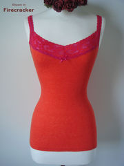 NOW 40% OFF NEW COLOURS!! In Our Fuchsia Wide Lace Camisole - product images 5 of 6