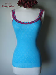 WOW 70% Off!! Our Fuchsia Heart Lace Camisole - product images 2 of 3