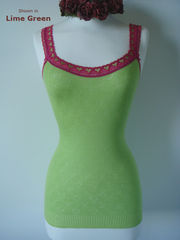 WOW 70% Off!! Our Fuchsia Heart Lace Camisole - product images 3 of 3