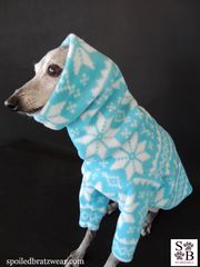 Nordic Snowflake Stripe Premium Fleece Dog Sweater-custom made - product images 2 of 5