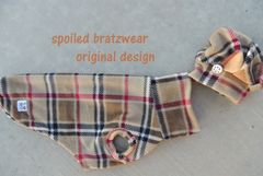 Brrrrrrberry London Plaid Vest and Tam Hat for Dogs-custom made - product images 2 of 4
