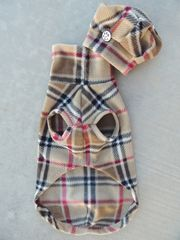 Brrrrrrberry London Plaid Vest and Tam Hat for Dogs-custom made - product images 3 of 4