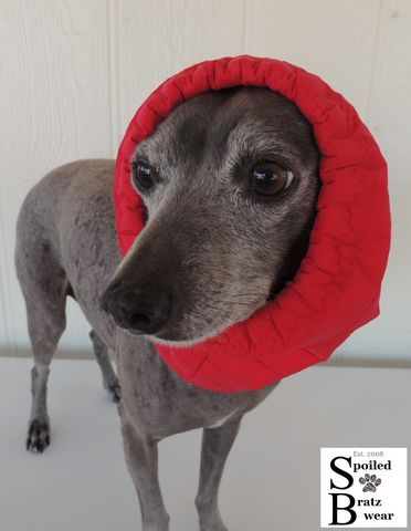 PolarPuff,Waterproof,Rain,and,Snow,Snood,Ear,Covering,for,Dogs-all,sizes,custom,made,dog_snood,waterproof_hat,earwarmer_for_dogs,polartec,rain_hat,greyhound,italian_greyhound,dachshund,warm,soft,comfortable,windblocker,spoiled_bratzwear,polartec powershield,toggle,cord