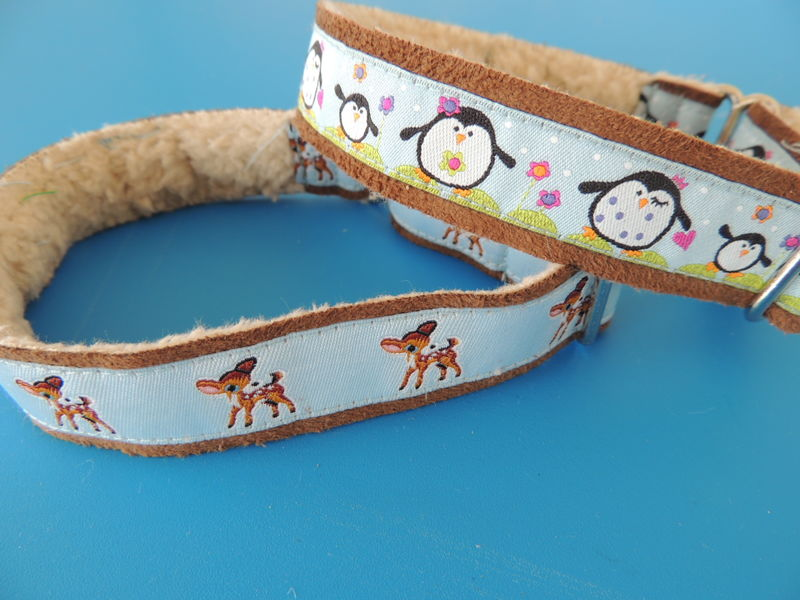 "3/4"" Softie Tag Collar with European ribbon accents-MANY to choose from - product images  of"