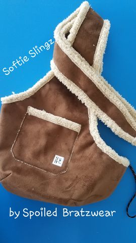 Softie,Slingz™,Comfortable,MicroShearling,Pet,Carrier,pet sling, dog carrier, chicken carrier