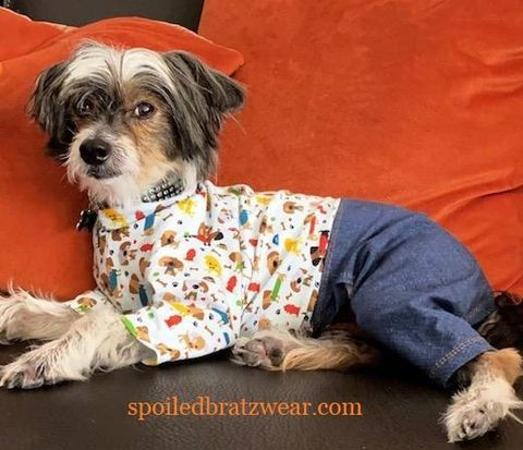 Western,Wag™,Stretchy,Jeans,'n,Top,many,prints,western wag, italian greyhound clothes
