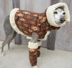 As seen on HGTV Shearling and Fleece Warm Dog Vest, Snood and Leg Warmers - product images 2 of 6