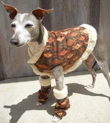 As seen on HGTV Shearling and Fleece Warm Dog Vest, Snood and Leg Warmers - product images 3 of 6