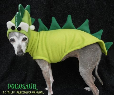 DinoDog,Costume,with,Glowing,Accents-custom,made,2-25,pound,dogs,halloween, best dog costume, italian greyhound costume, spoiled bratzwear, dinosaur costume