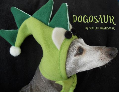 DinosaurFleecePetHatHalloweenCostumewithglow & Dogerpillar Glow in the Dark Original Halloween Costume for Dogs ...