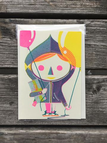 Wee,Anorak,greetings cards, anorak, rise, risograph, printed, cards, printed matter, paper goods, guymckinley, guy mckinley
