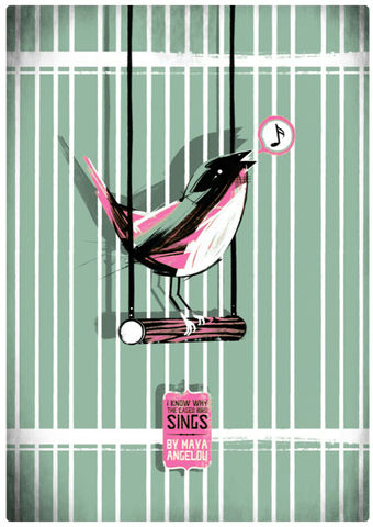 I,Know,Why,The,Caged,Bird,Sings,Screenprint, Limited Edition, Maya Angelou, I Know Why The Caged Bird Sings