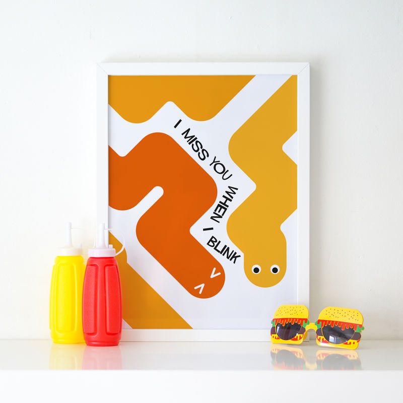 'I miss you when I blink' Art Print - product images  of