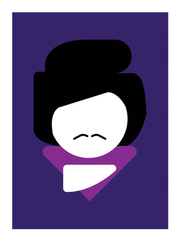 Basics,:,Prince,icons, portrait, rock, music, art, print, graphic, interiors, home, gift, present, colorful, Prince