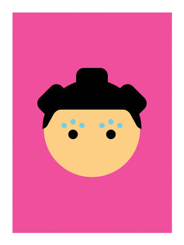 Basics,:,Bjork,icons, portrait, rock, music, art, print, graphic, interiors, home, gift, present, colorful, bjork