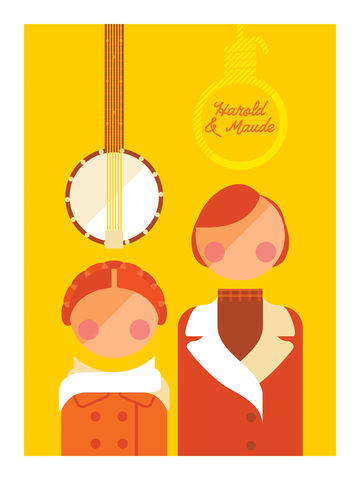 Harold,&,Maude,comedy, tv, television, lou and andy, little britain, british, funny, lol, art, print, graphic, interiors, home, gift, present
