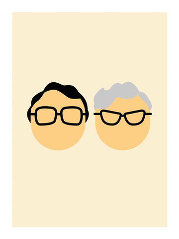 The,Two,Ronnies,comedy, bbc, two ronnies, ronnie corbett, ronnie barker, funny, lol, tv, television, british, art, print, graphic, interiors, home, gift, present