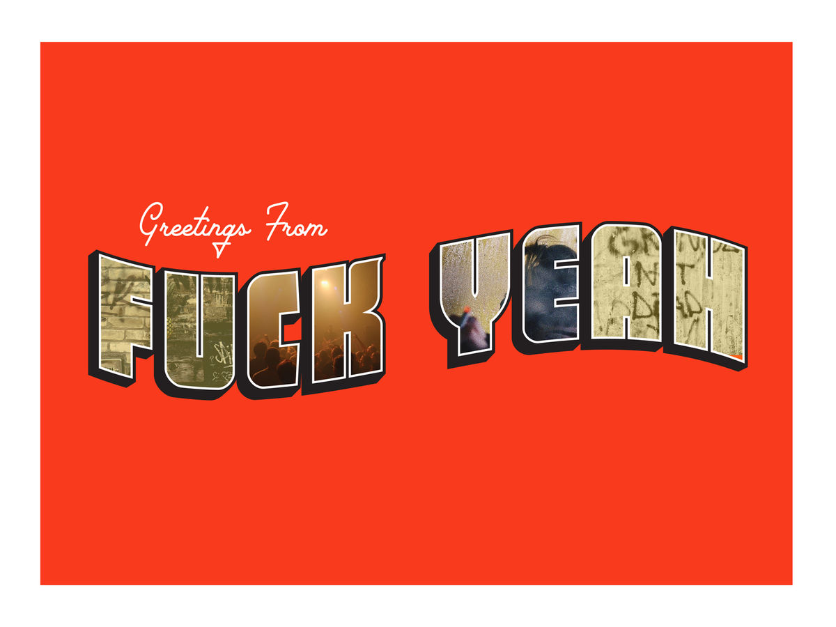 'Greetings from Fuck Yeah' Art Print - product images  of