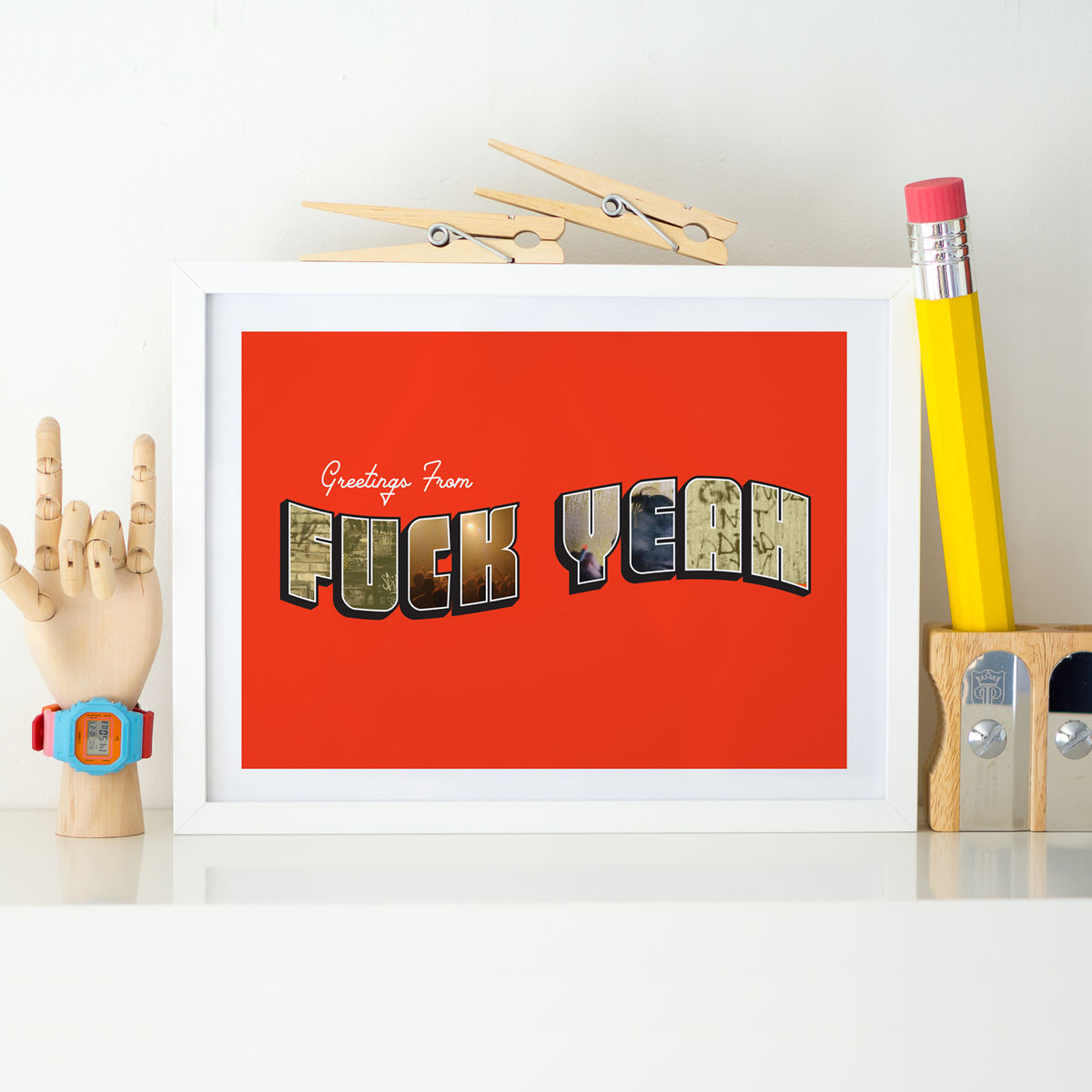 'Greetings from Fuck Yeah' Art Print - product image