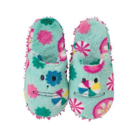 Japan,Korat,Mop,Slippers,(Kids),mop slippers, multicolour, konpeitou, korat, kitty, cat, print, pattern, plush, soft, slipper, cute