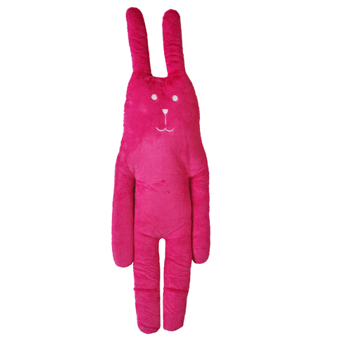 Fuchsia,Rab,Hug,Cushion,L,fuchsia, soft toy, pink, fucshia, easter, summer, mum, sister, aunty, gran, japan, rabbit, bunny, rab, japanese, cute, plush, toy, soft, huggable, pillow, pastel, home decor, fun, adorable
