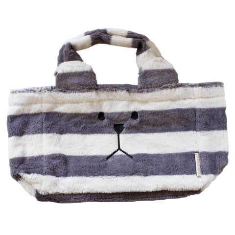 Standard,Sloth,Bag,bag, sloth, standard, stripy, grey, white, border, blanket, animal, warm, cute, kawaii, craft, craftholic, ears, emo, soft, stripe, bear, first