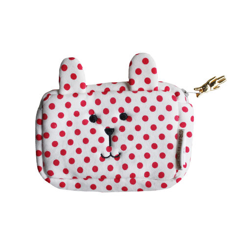 Rab,Purse,purse, pouch, craftholic, rab, spotty, bunny, rabbit, polka dots, red, spots, carry , change