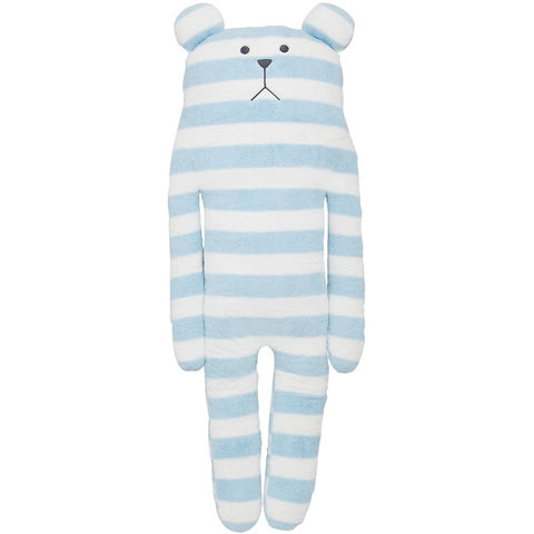 Tomorrow,Craft,Sloth,Hug,Cushion,L,Stripy, craftholic, craft, plush, soft toy, pale blue, stripes, sloth, blue, bear, japanese, kawaii, kids, children, large, pillow