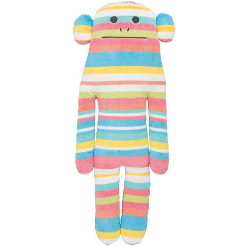 Tomorrow,Craft,Loris,Hug,Cushion,L,stripy, craftholic, craft, plush, soft toy, monkey, loris, tomorrow craft, japanese, kawaii, kids, children, large, pillow