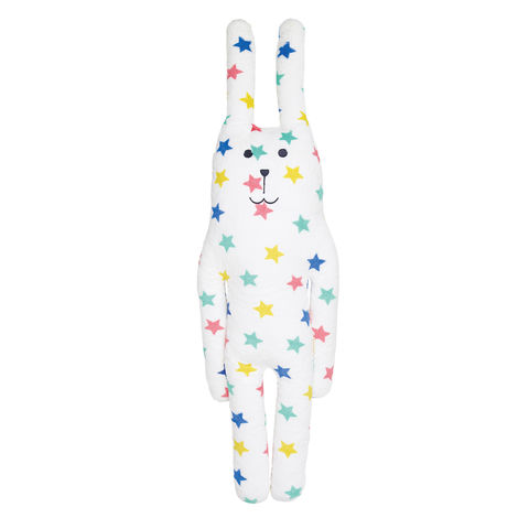 Multi,Star,Rab,L,Craftholic, Rab, Rabbit, Stars, Plush toy, Hug Cushion, Cuddle Cushion, Japan, Kawaii, Multicoloured, Kids toys, Soft Toy, bedtime buddy