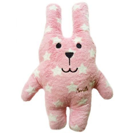 Smile,Pink,Star,Rab,Medium,Craftholic, craftholic uk, Rab, Rabbit, Plush toy, Pink, stars, kids toy, soft toy, Kawaii, Japan, Japanese,